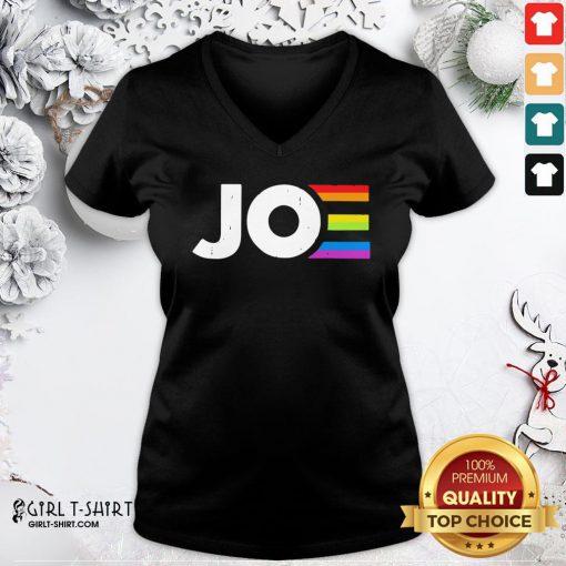 Hot LGBT Joe Biden V-neck - Design By Girltshirt.com