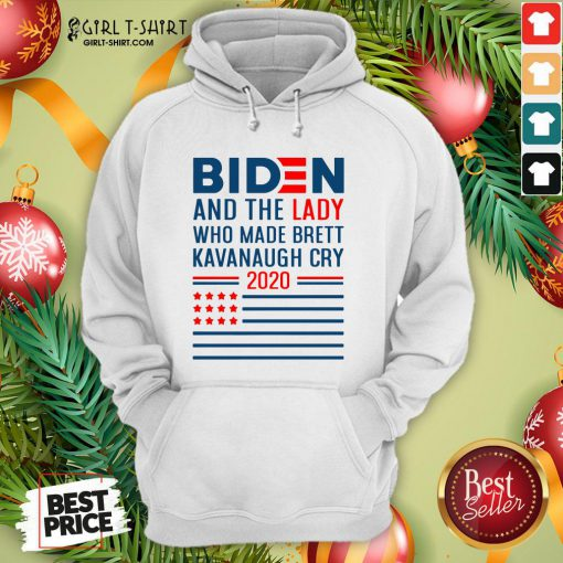 How Funny Joe Biden And The Lady Who Made Brett Kavanaugh Cry 2020 American Flag Hoodie - Design By Girltshirt.com
