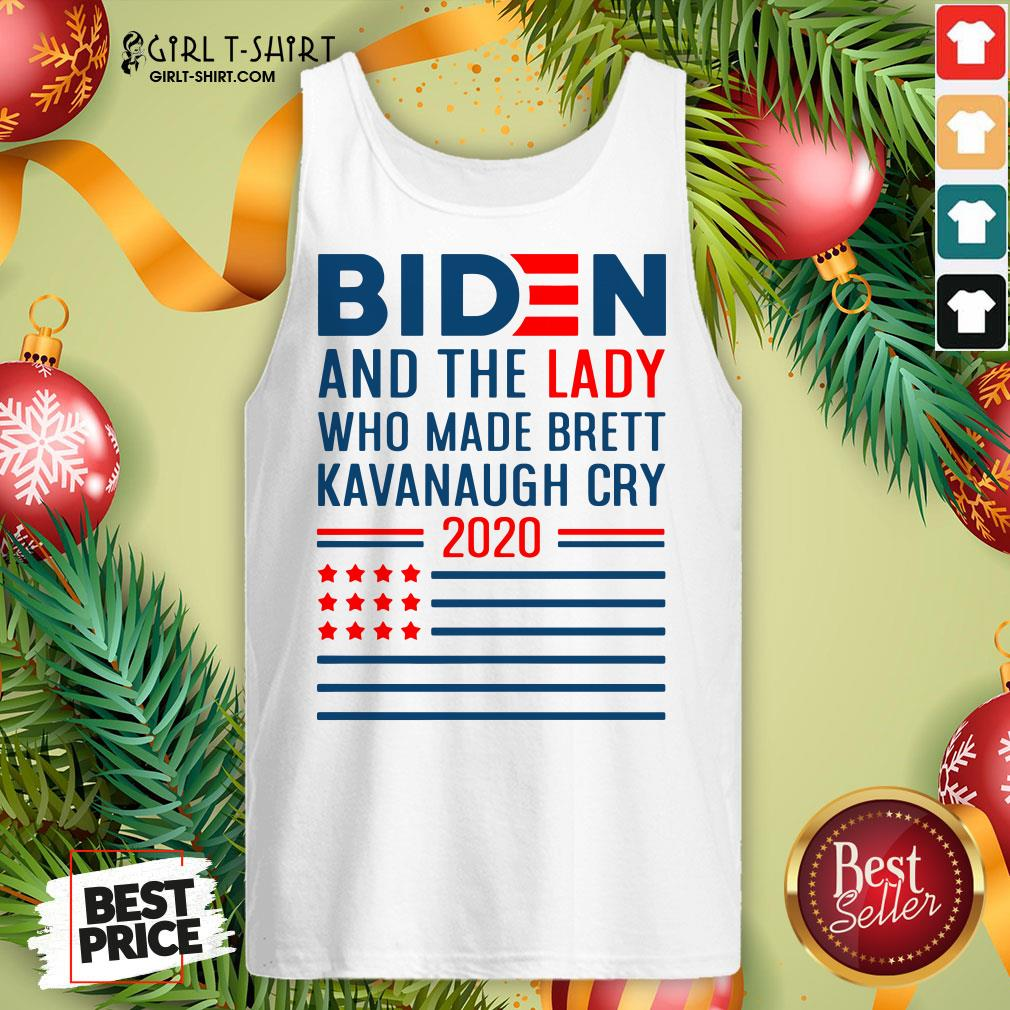 How Funny Joe Biden And The Lady Who Made Brett Kavanaugh Cry 2020 American Flag Tank Top - Design By Girltshirt.com