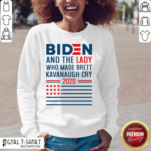 How Funny Joe Biden And The Lady Who Made Brett Kavanaugh Cry 2020 American Flag V-neck - Design By Girltshirt.com