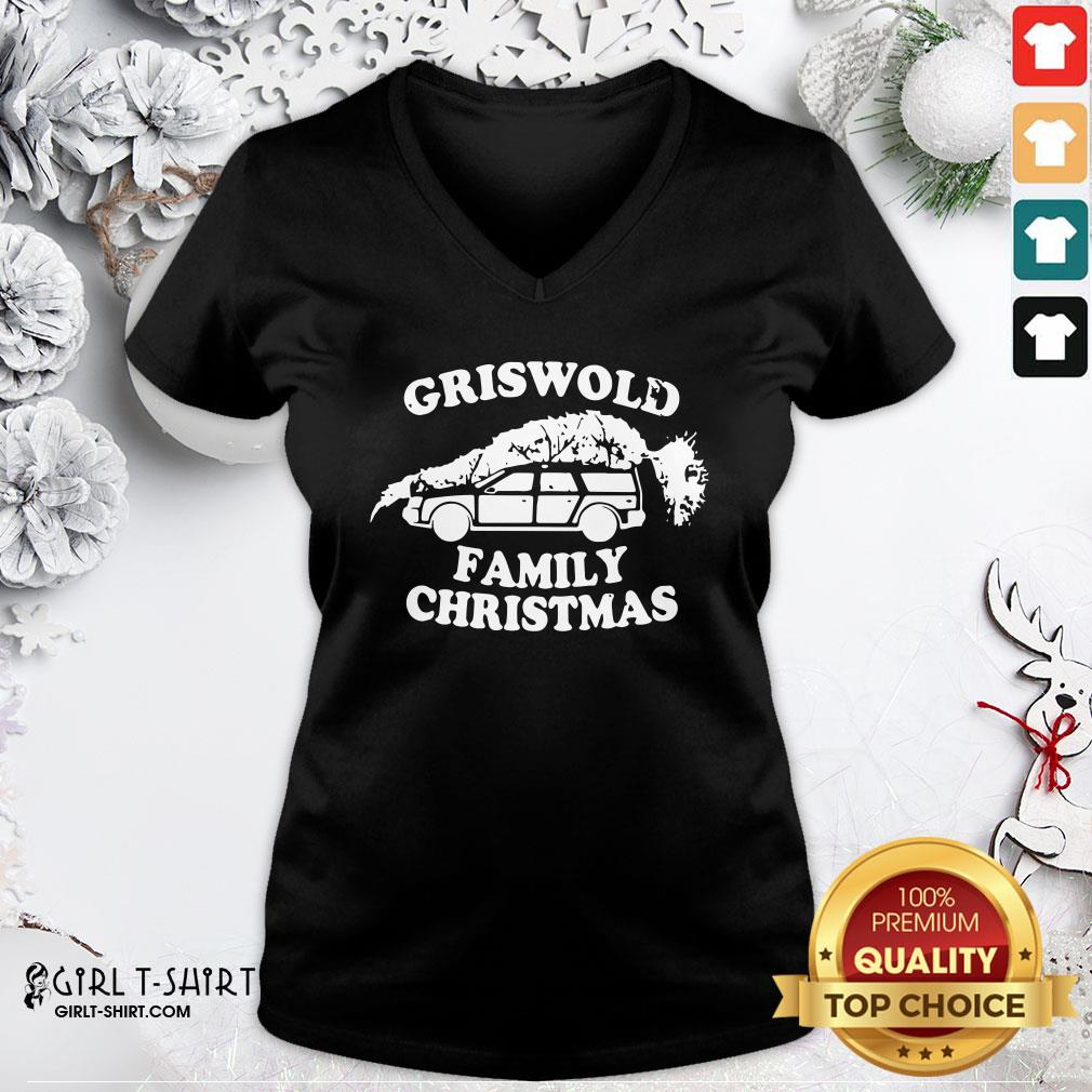 How Griswold Family Christmas 2021 V-neck- Design By Girltshirt.com