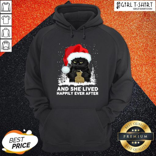 How Santa Black Cat And She Lived Happily Ever After Christmas Hoodie - Design By Girltshirt.com