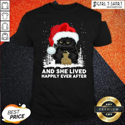 How Santa Black Cat And She Lived Happily Ever After Christmas Shirt - Design By Girltshirt.com