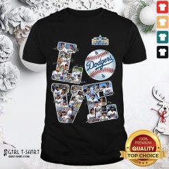 Huge Dodgers Football Team Signature Love Shirt- Design By Girltshirt.com