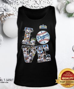 Huge Dodgers Football Team Signature Love Tank Top - Design By Girltshirt.com