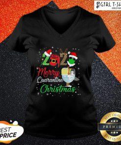 If 2020 Merry Quarantine Christmas V-neck - Design By Girltshirt.com