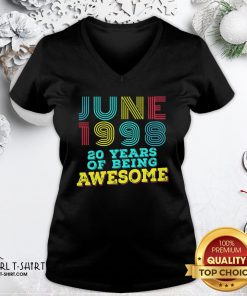 Listen June 1998 20 Years Of Being Awesome V-neck - Design By Girltshirt.com