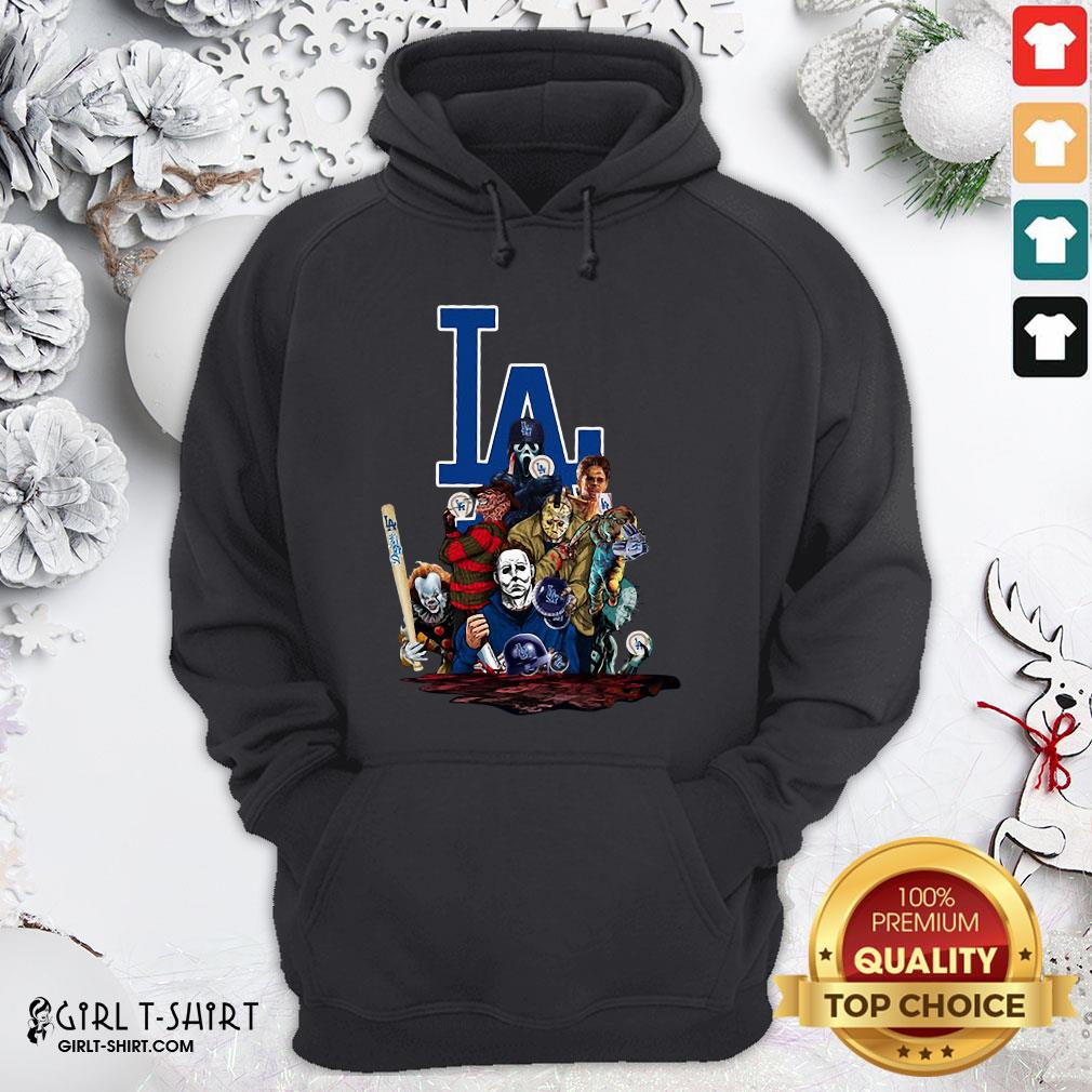 My Horror Movies Characters Los Angeles Dodgers 2020 World Series Champions Hoodie - Design By Girltshirt.com
