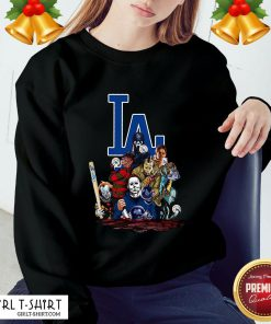 My Horror Movies Characters Los Angeles Dodgers 2020 World Series Champions Sweatshirt- Design By Girltshirt.com