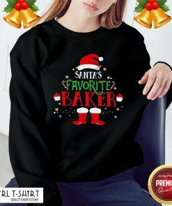 New Santa's Favorite Baker Merry Christmas Sweatshirt - Design By Girltshirt.com