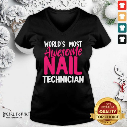 Technician Artist Manicurist V-neck - Design By Girltshirt.com