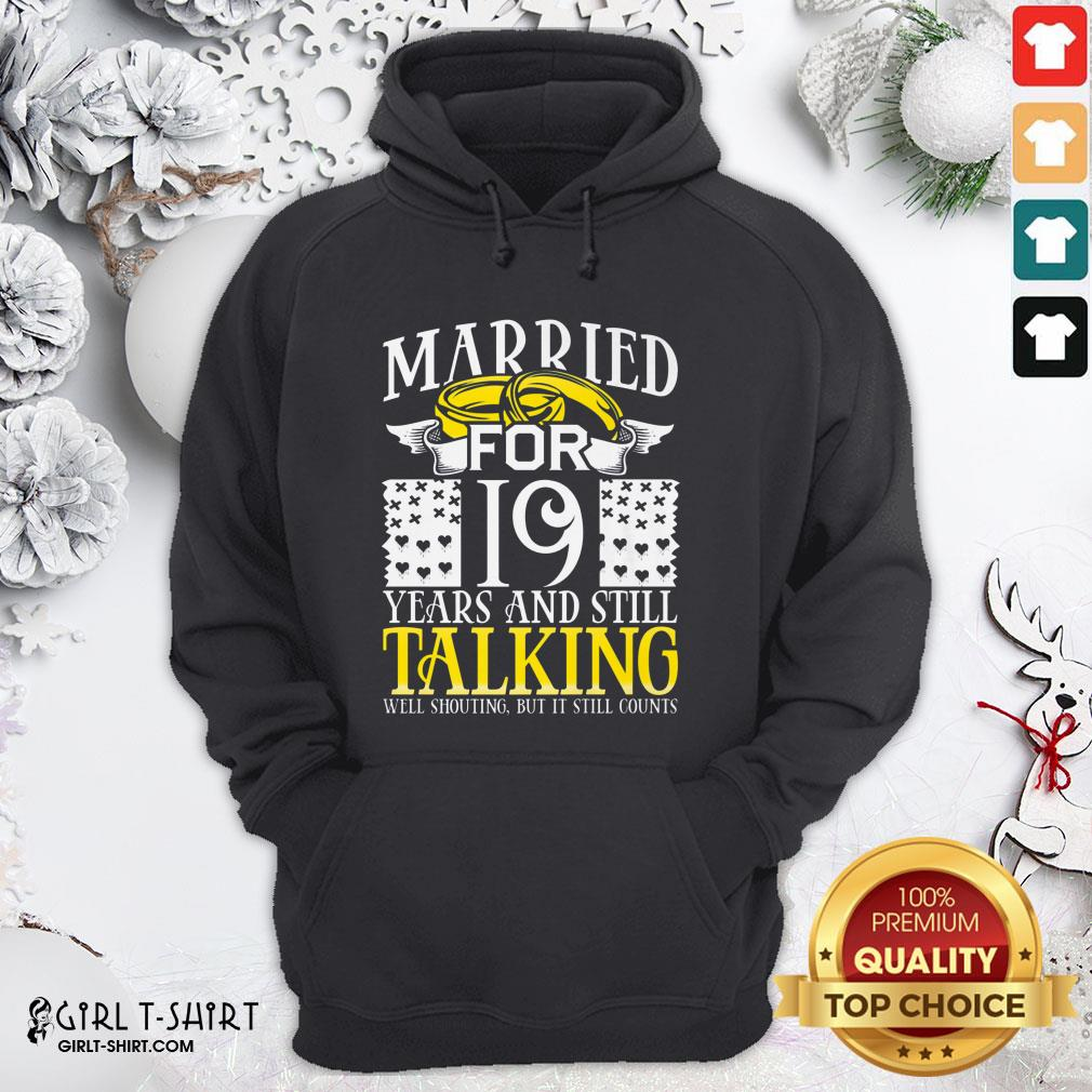Nice 19th Wedding Anniversary For Wife Her Marriage Hoodie - Design By Girltshirt.com