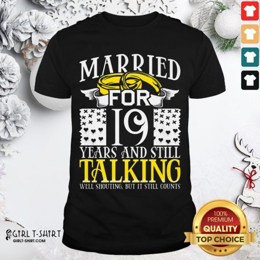 Nice 19th Wedding Anniversary For Wife Her Marriage Shirt - Design By Girltshirt.com