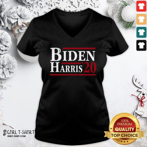 Nice Joe Biden Kamala Harris 2020 Election Democrat Liberal Unisex V-neck- Design By Girltshirt.com