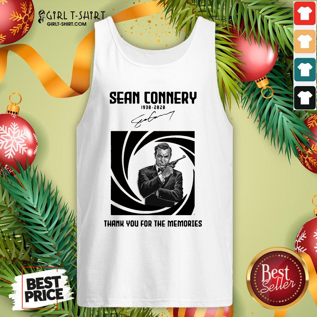 Not Rip Sean Connery 1938 2020 Signature Thank You For The Memories Tank Top - Design By Girltshirt.com