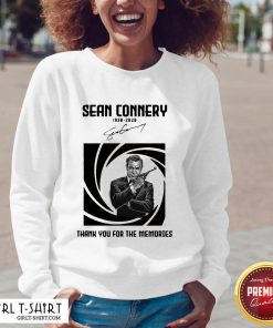 Not Rip Sean Connery 1938 2020 Signature Thank You For The Memories V-neck - Design By Girltshirt.com
