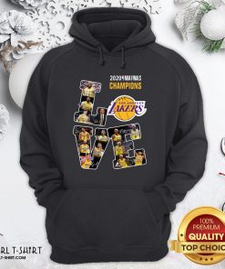 Official 2020 Nba Finals Champions Love Los Angeles Lakers Signatures Hoodie - Design By Girltshirt.com