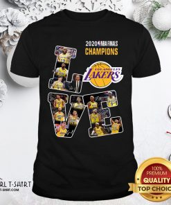 Official 2020 Nba Finals Champions Love Los Angeles Lakers Signatures T-Shirt - Design By Girltshirt.com