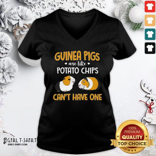 Official Guinea Pigs Are Like Potato Chips Can't Have One V-neck - Design By Girltshirt.com