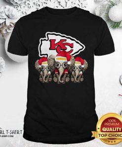 Kansas City Chiefs Elephant Christmas Shirt - Design By Girltshirt.com