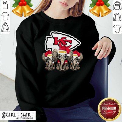 Kansas City Chiefs Elephant Christmas Sweatshirt - Design By Girltshirt.com