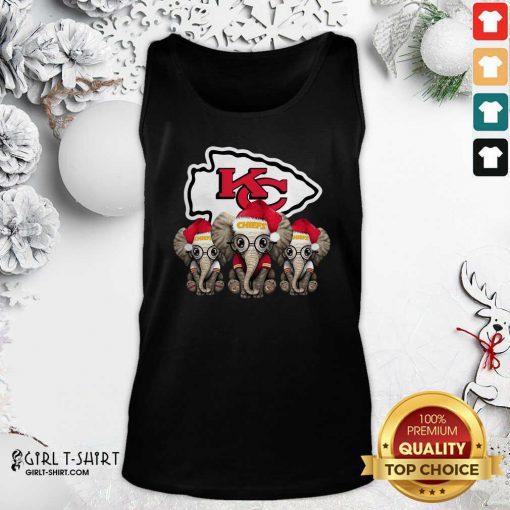 Kansas City Chiefs Elephant Christmas Tank Top - Design By Girltshirt.com