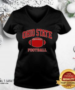 Official Ohio State Football OH Vintage Varsity Style V-neck - Design By Girltshirt.com
