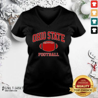 Ohio State Football OH Vintage Varsity Style V-neck - Design By Girltshirt.com