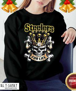 Skull Pittsburgh Steelers For Life Sweatshirt- Design By Girltshirt.com