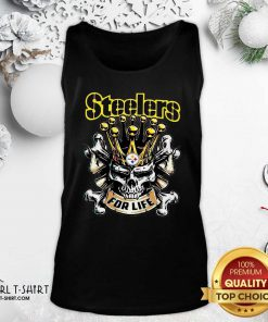 Official Skull Pittsburgh Steelers For Life Tank Top- Design By Girltshirt.com