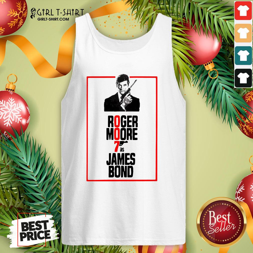 On Roger Moore 7 As James Bond Tank Top - Design By Girltshirt.com