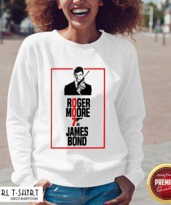 On Roger Moore 7 As James Bond V-neck - Design By Girltshirt.com