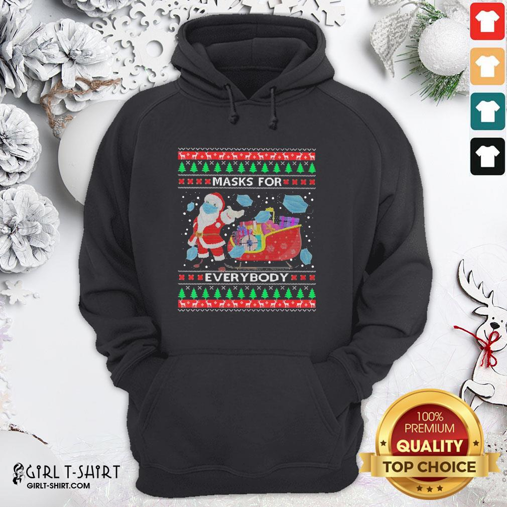 Only Masks For Everybody Quarantine 2020 Ugly Christmas Hoodie- Design By Girltshirt.com