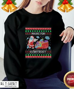 Only Masks For Everybody Quarantine 2020 Ugly Christmas Sweatshirt - Design By Girltshirt.com