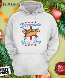 Decorate Your Dog Hot Dog Mery Christmas Hoodie- Design By Girltshirt.com