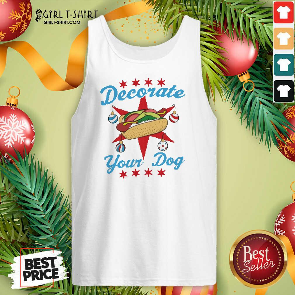 Decorate Your Dog Hot Dog Mery Christmas Tank Top - Design By Girltshirt.com