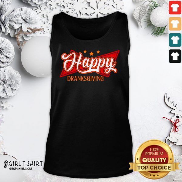 Original Happy Drinksgiving Tank Top - Design By Girltshirt.com