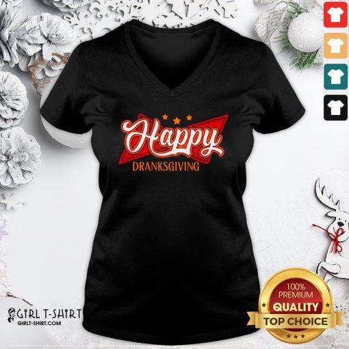 Original Happy Drinksgiving V-neck - Design By Girltshirt.com