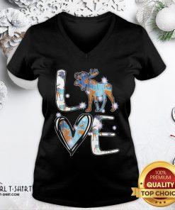 Original Moose Love Cute Theme V-neck- Design By Girltshirt.com