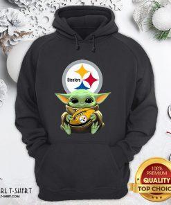 Perfect Baby Yoda Star Wars Steelers Hoodie- Design By Girltshirt.com