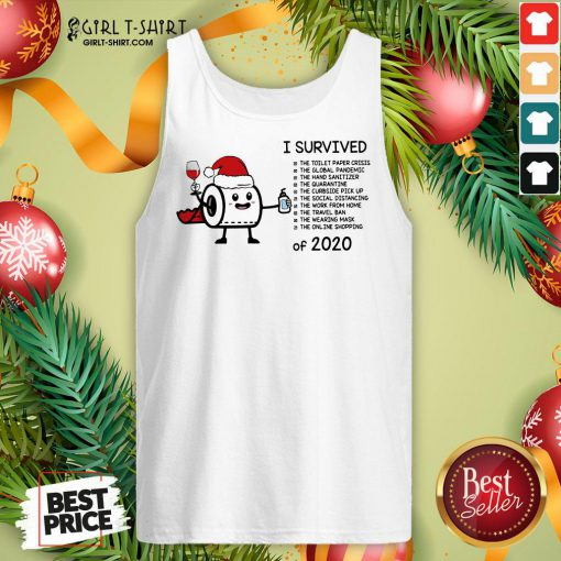 Perfect Toilet Paper I Survived The Global Pandemic Of 2020 Christmas Tank Top- Design By Girltshirt.com