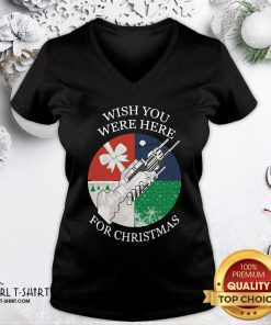 Perfect Wish You Were Here For Christmas V-neck - Design By Girltshirt.com