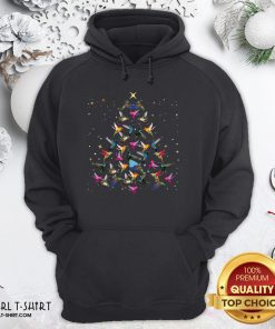 Pool Hummingbird Christmas Tree Sweater Hoodie- Design By Girltshirt.com