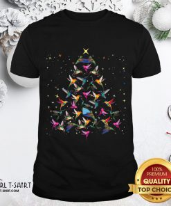 Pool Hummingbird Christmas Tree Sweater Shirt- Design By Girltshirt.com