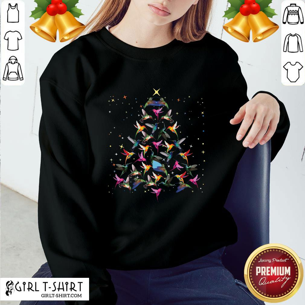 Pool Hummingbird Christmas Tree Sweater Sweatshirt - Design By Girltshirt.com