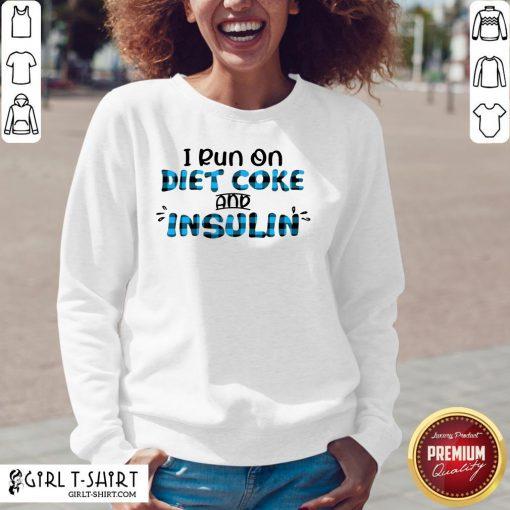 Premium Diabetes Awareness I Run On Diet Coke And Insulin V-neck- Design By Girltshirt.com