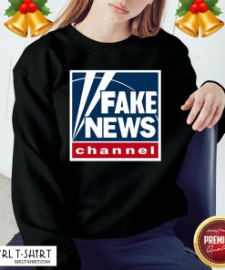 Premium Fake News Channel Sweatshirt- Design By Girltshirt.com