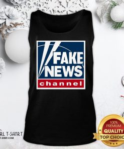 Premium Fake News Channel Tank Top- Design By Girltshirt.com