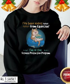 Premium I've Been Hiding From Exercise I'm In The Fitness Protection Program Sweatshirt - Design By Girltshirt.com