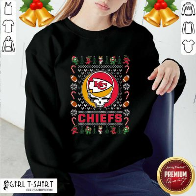 Kansas City Chiefs Grateful Dead Christmas Ugly Sweatshirt - Design By Girltshirt.com